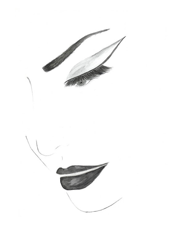 Drawn poster face Face Watercolor Eye Fashion and