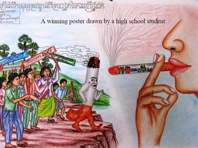 Drawn poster handmade Cambodia poster announce Alliance by