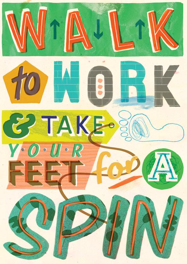 Drawn poster handmade & marker Illustrator illustr: tip