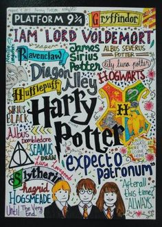 Drawn poster harry potter Find Pin draw whole be
