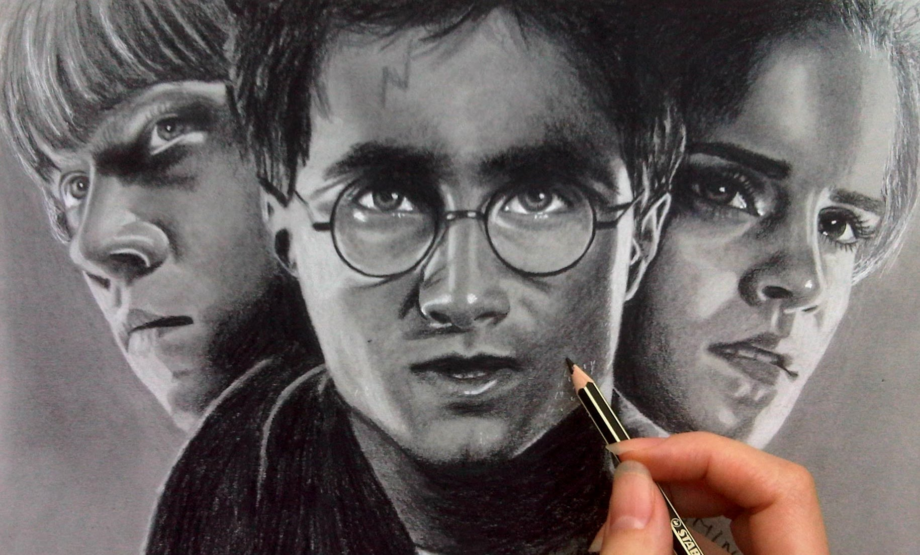 Drawn poster harry potter  drawing Harry poster of