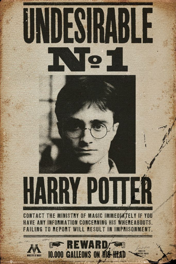 Drawn poster harry potter Harry Undesireable Best Poster Pinterest