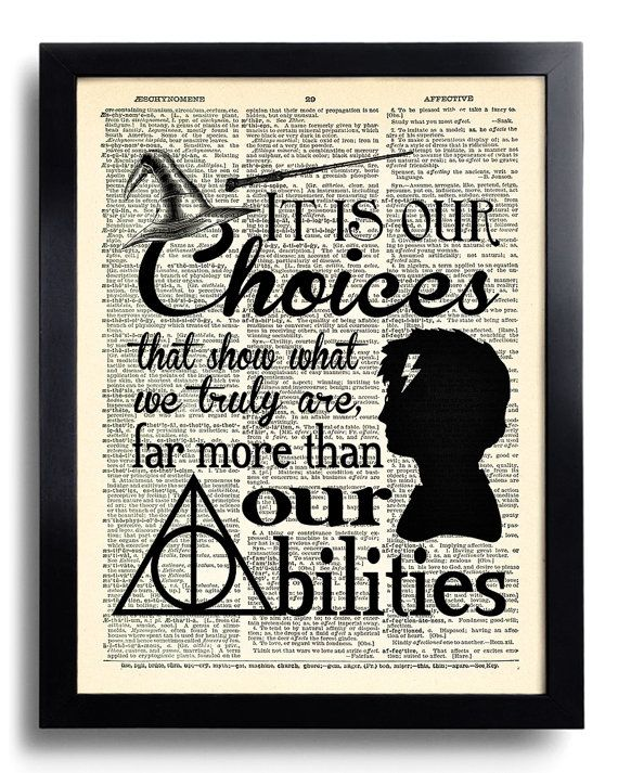 Drawn poster harry potter Harry It Print DICTIONARY potter