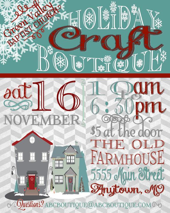 Drawn poster holiday craft fair House Craft Fair images 357
