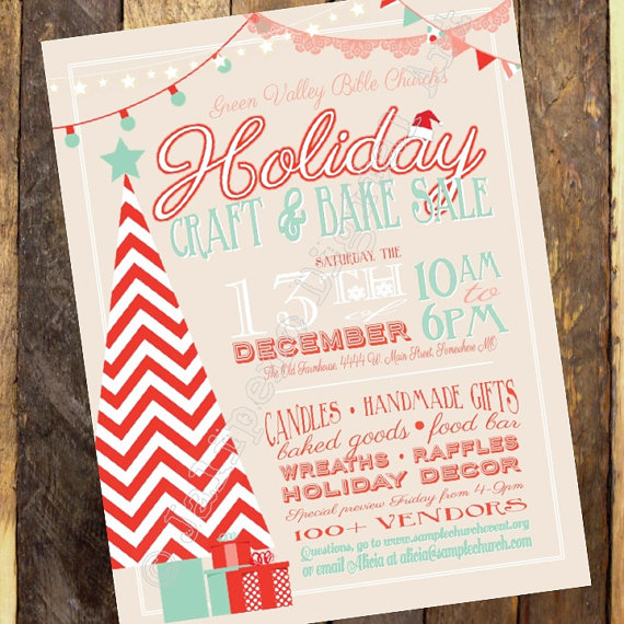 Drawn poster holiday craft fair Flyer Craft Fair PRINTABLE Fair