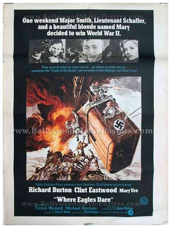 Drawn poster hollywood Clint Where Eastwood vintage sale
