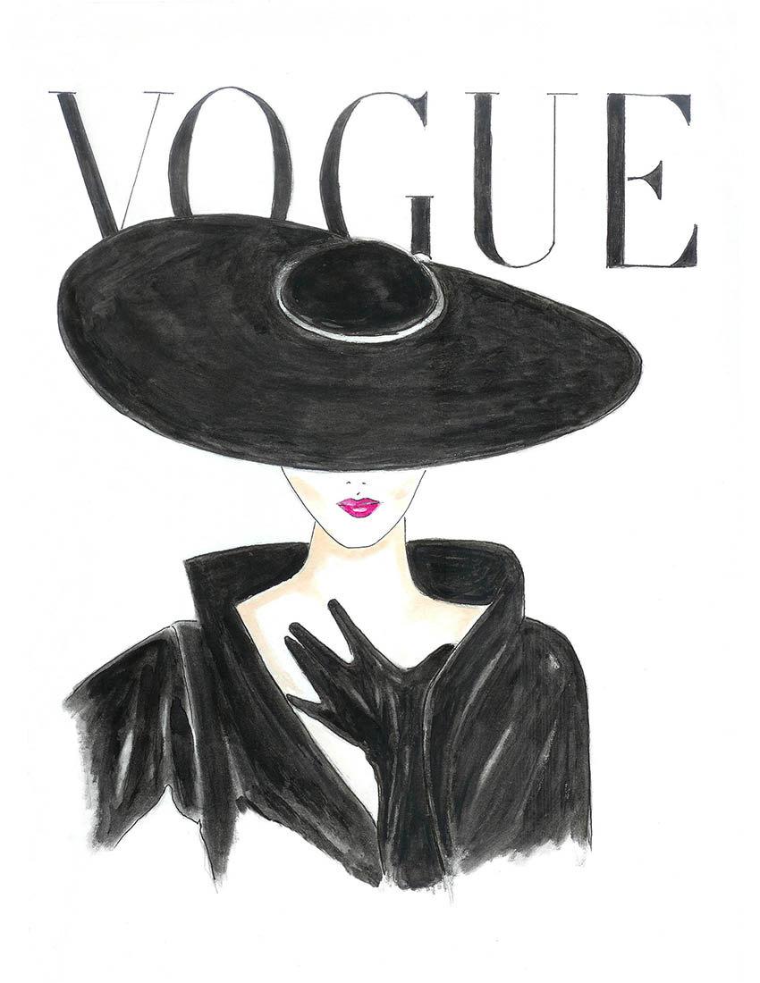 Drawn poster illustrative Poster Fashion Hand Drawn Illustration