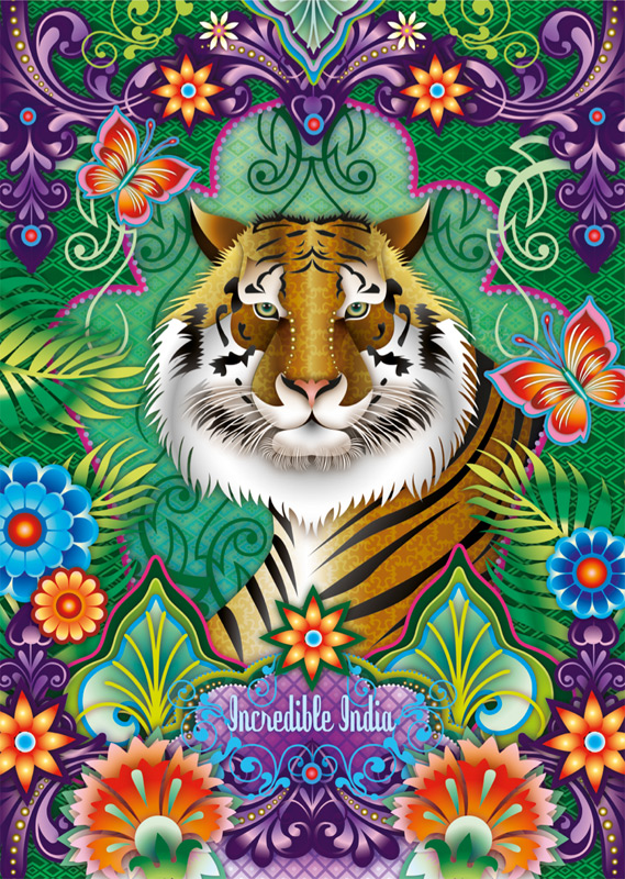 Drawn poster incredible india for kid Folio illustration News agency London