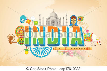 Drawn poster incredible india for kid Masteri ベクター Posters For Independence