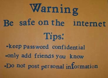 Drawn poster internet safety On WarningPoster » Be the