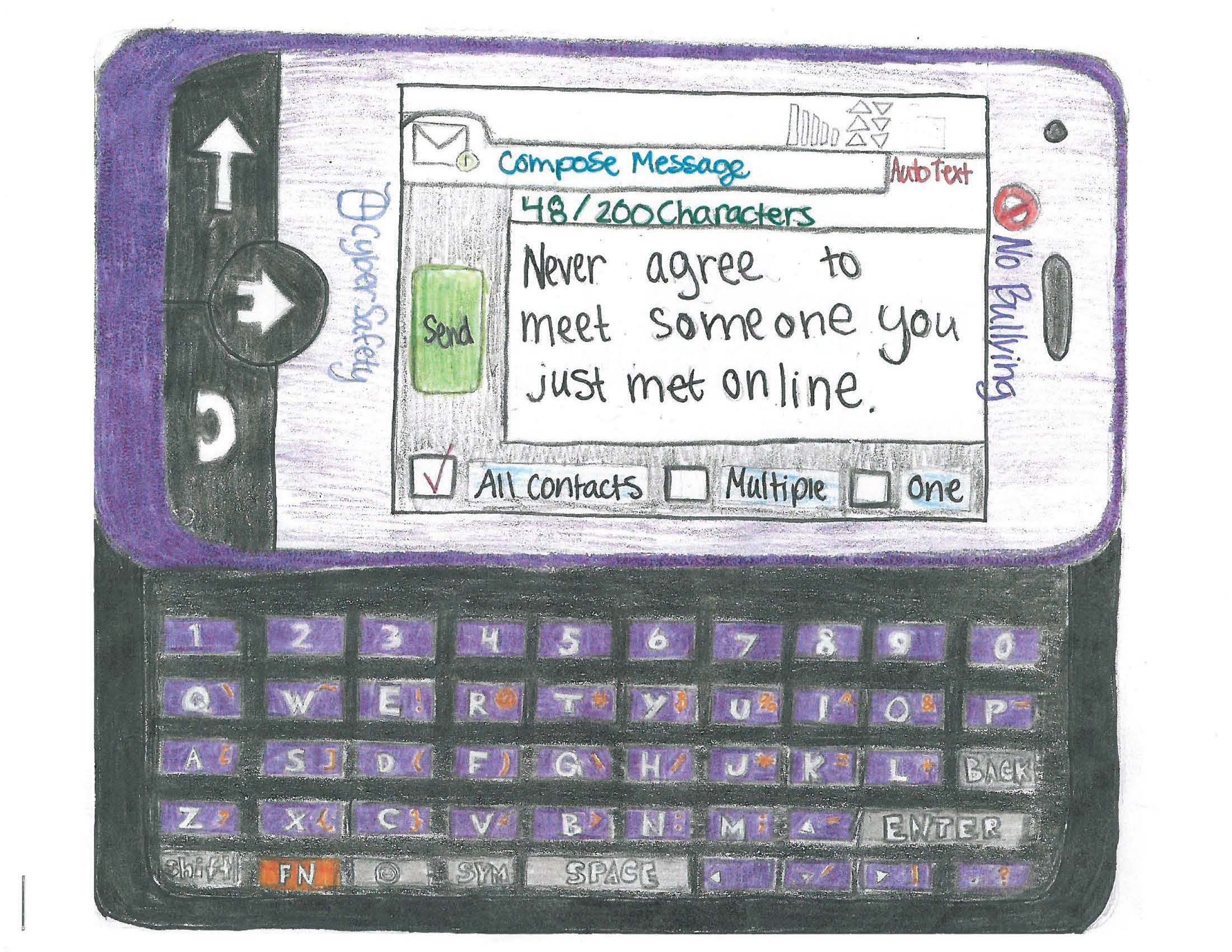 Drawn poster internet safety Spread only Online jpg about