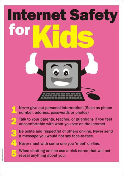Drawn poster internet safety Kids about Cyber Safety 51
