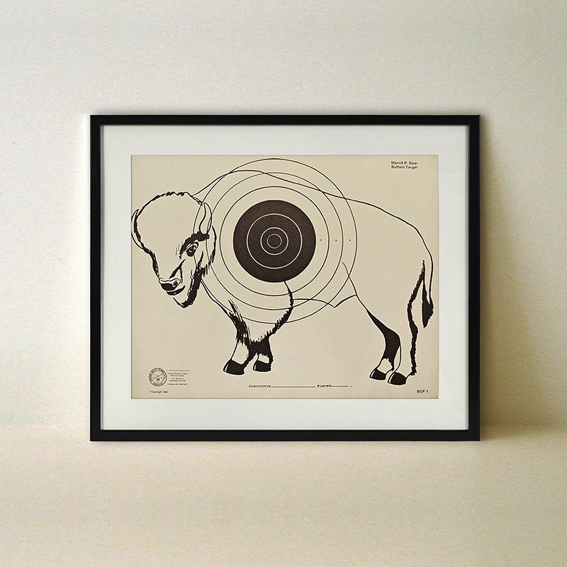 Drawn poster letraset Buffalo Poster  ⚡ Out