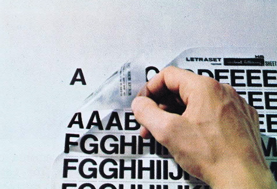 Drawn poster letraset Letraset With Gene: When With