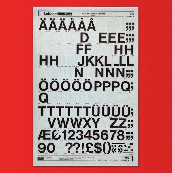 Drawn poster letraset Umlaut a have Books #Helvetica