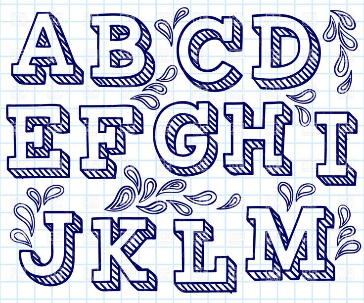 Lettering clipart font Ideas hand shaded font great
