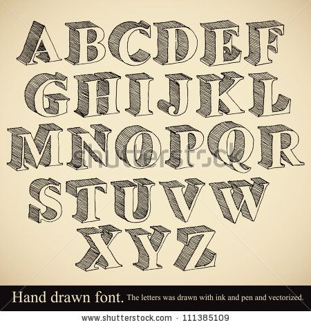 Drawn typeface handwriting Font ideas vintage vector Hand