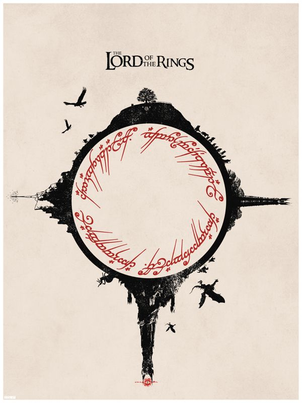 Drawn poster lord the ring On Lord of  Best