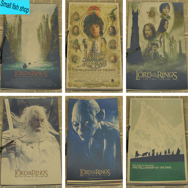 Drawn poster lord the ring Furnishing The Rings Stickers for