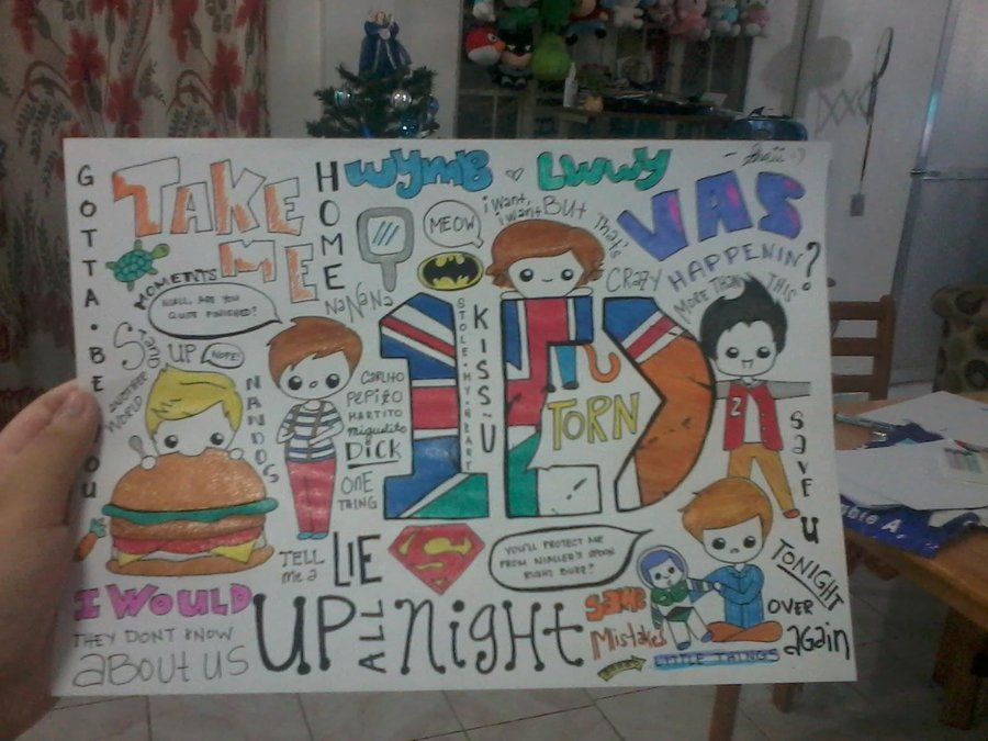 Drawn poster one direction One ^ Traditional Direction Poster