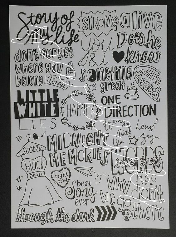 Drawn poster one direction On more Pin Cute 5