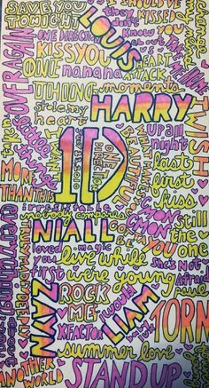 Drawn poster one direction Emily by: Poster  Troy