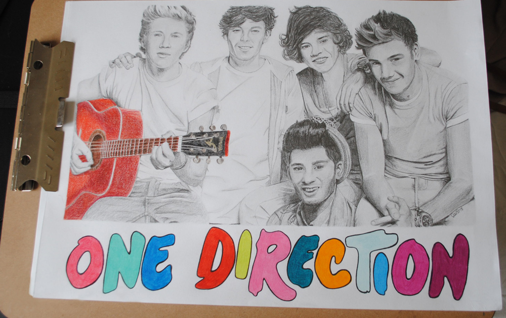 Drawn poster one direction Drawn Direction Posters One