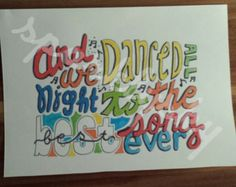 Drawn poster one direction Best Ideas Direction One Song