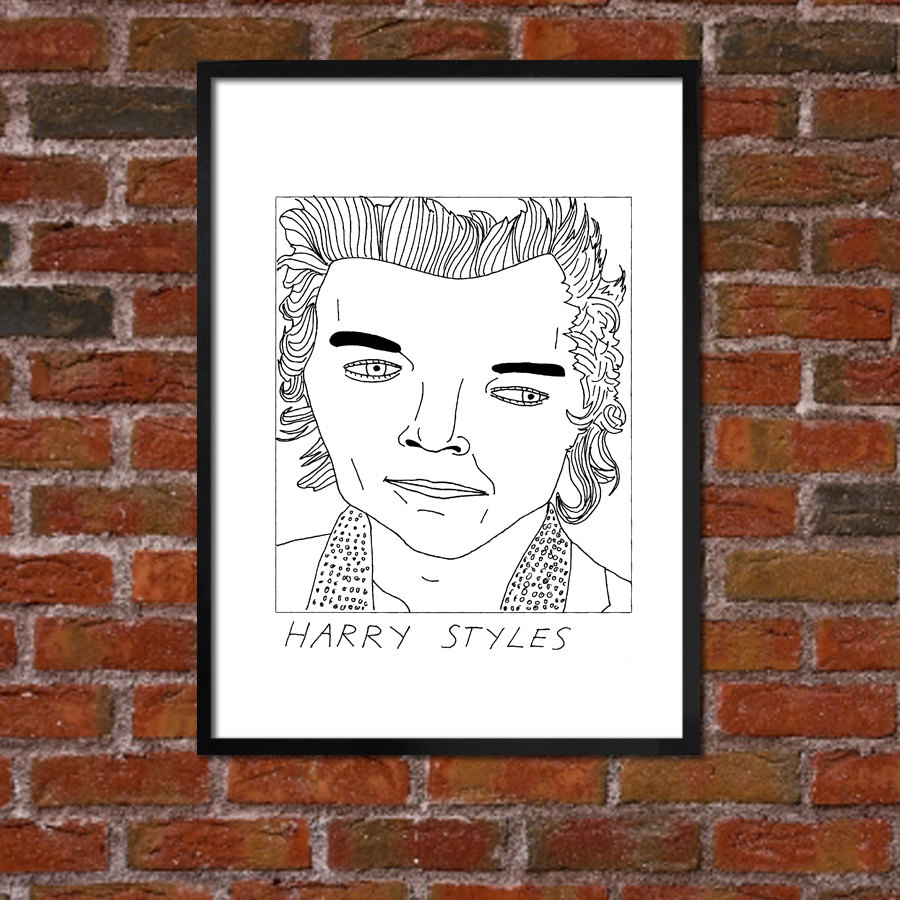 Drawn poster one direction Direction One Harry Poster direction