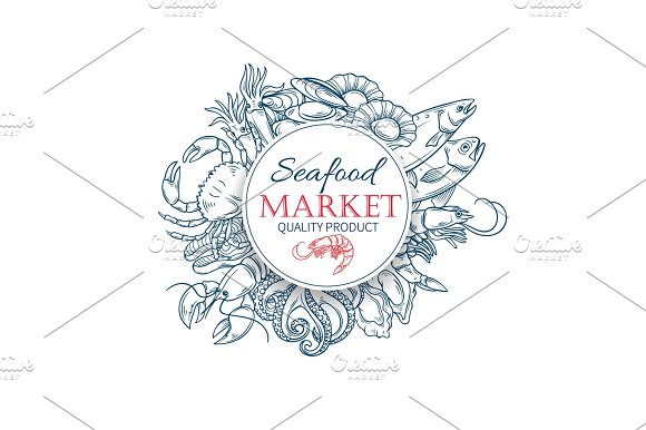 Drawn poster pattern Hand template ~ poster Creative