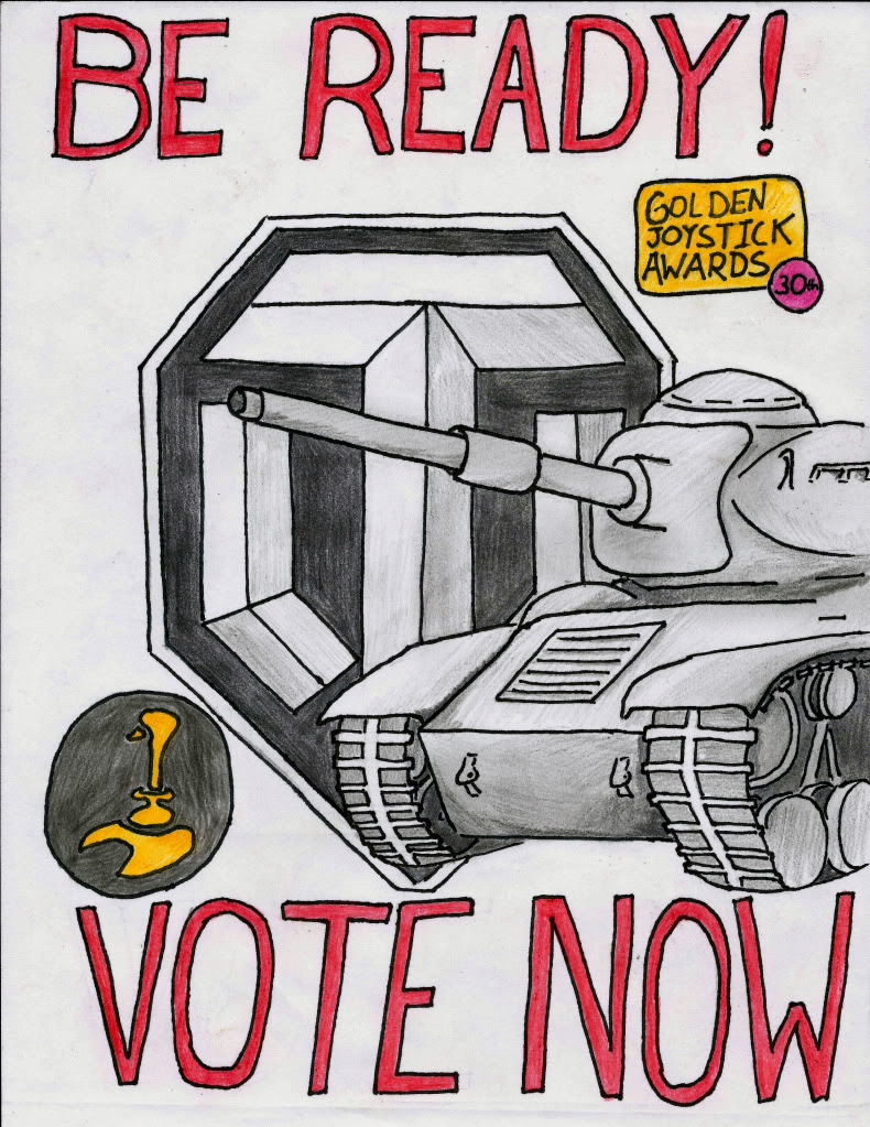 Drawn poster propaganda Golden News would stage from