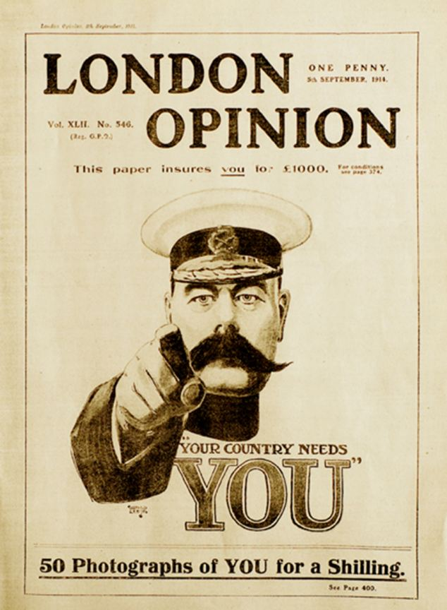 Drawn poster propaganda Drew magazine London sent for