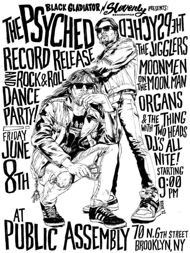 Drawn poster punk Gig Hand poster drawn poster
