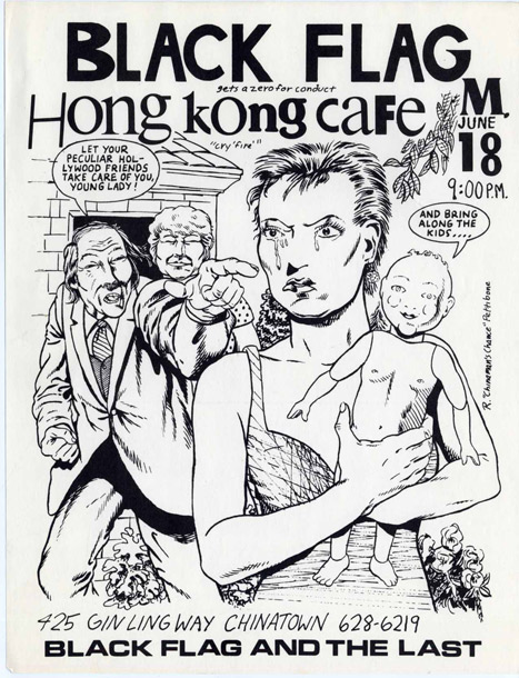 Drawn poster punk Hong Ling Last Café Flag