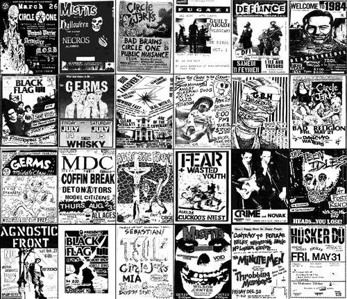 Drawn poster punk I old band punk things