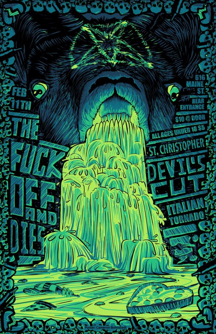 Drawn poster punk gig Gig Poster Skypher by Skypher