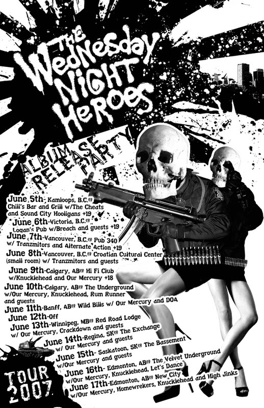Drawn poster punk gig Heroes Night Pinterest Wednesday on