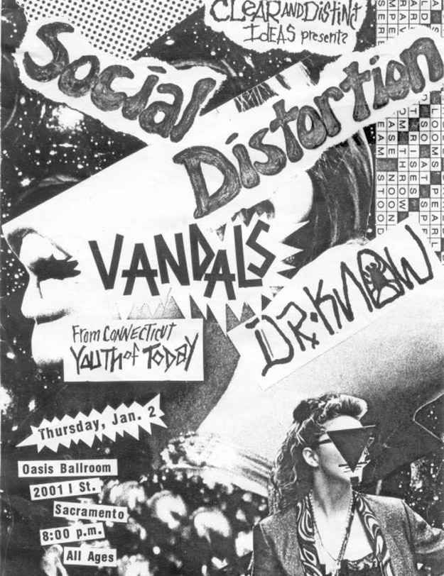 Drawn poster punk gig Best Punk band about From