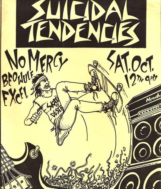 Drawn poster punk gig Pinterest Gig Suicidal Flyer Tendencies
