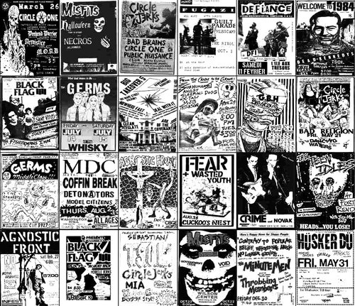 Drawn poster punk gig Vintage rock on Posters 66