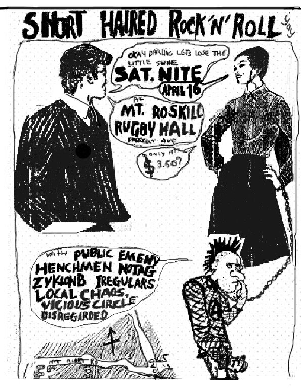 Drawn poster punk gig On best about Gig 17
