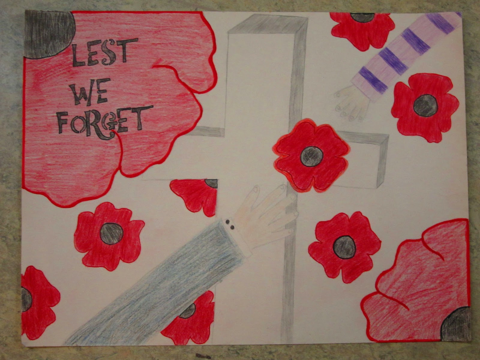 Drawn poster remembrance day #9