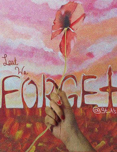 Drawn poster remembrance day Remembrance Week Day School at
