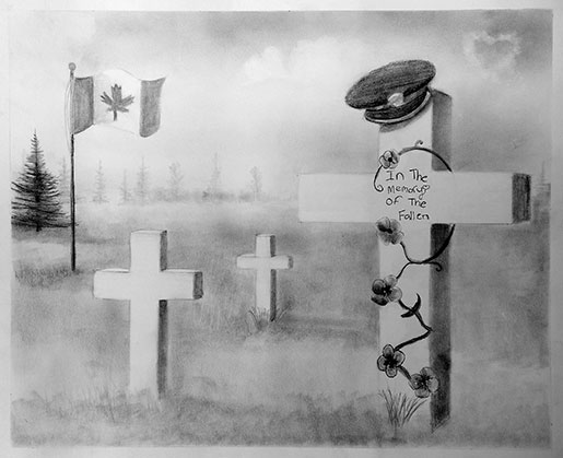 Drawn poster remembrance day #1