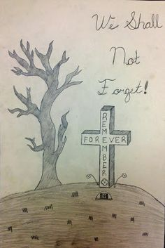 Drawn poster remembrance day #7