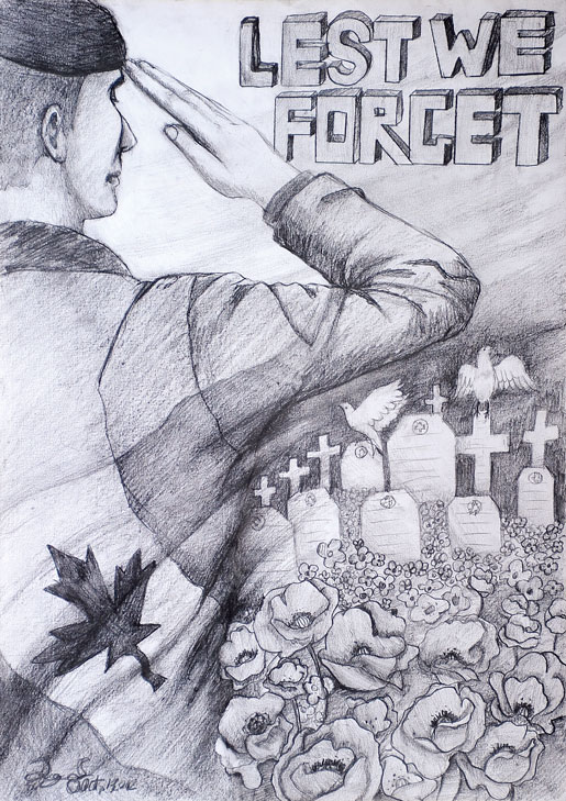 Drawn poster remembrance day #3