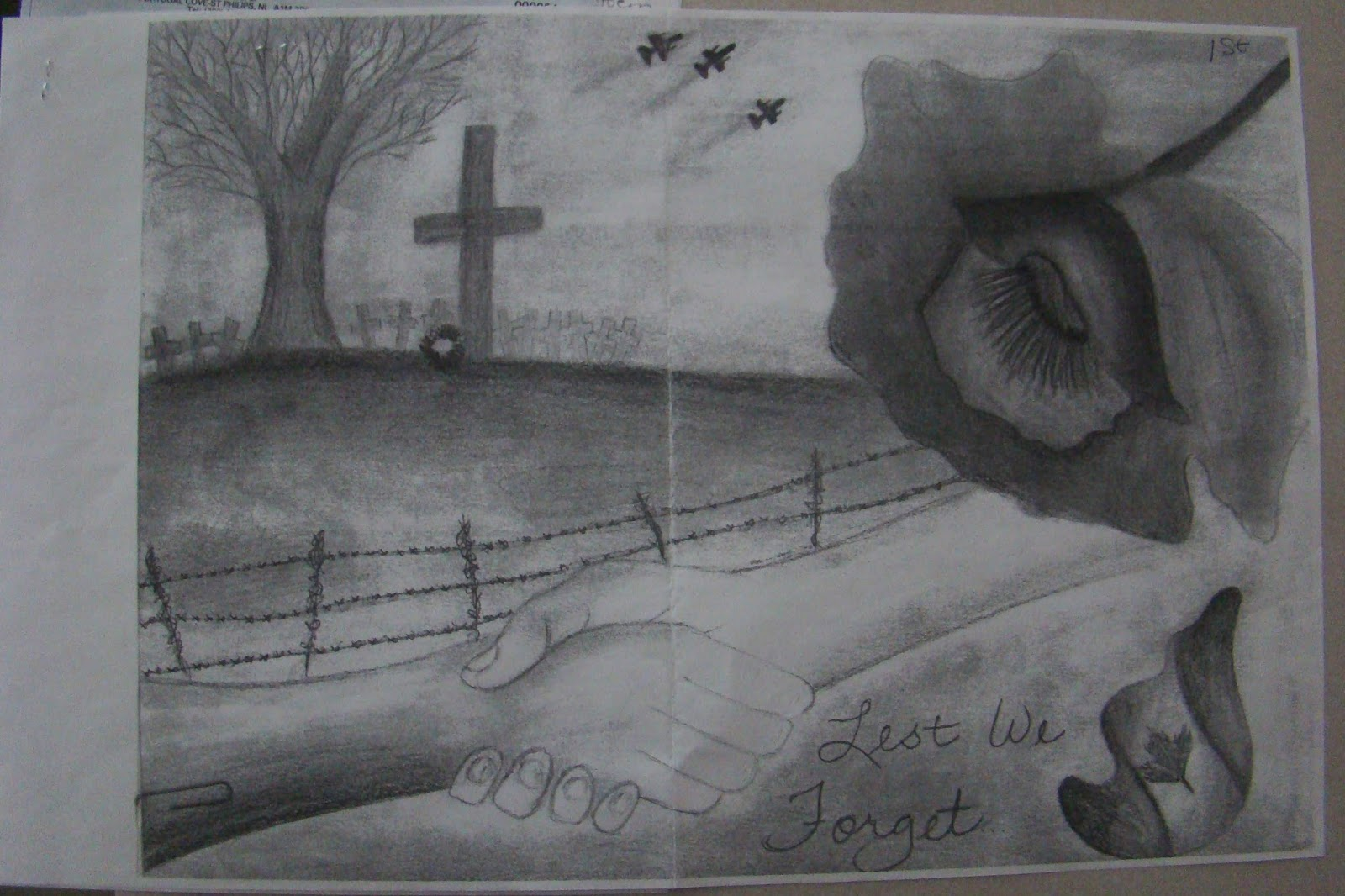 Drawn poster remembrance day #5