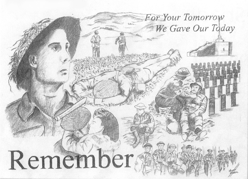 Drawn poster remembrance day #4
