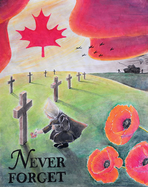 Drawn poster remembrance day #8