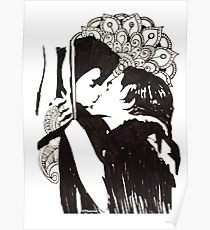 Drawn poster romeo and juliet Drawing: Redbubble Romeo Juliet Poster